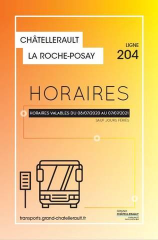 Horaires car Châtellerault La Roche-Posay