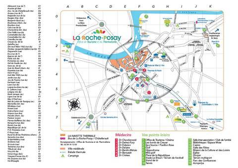 Plan ville La Roche-Posay
