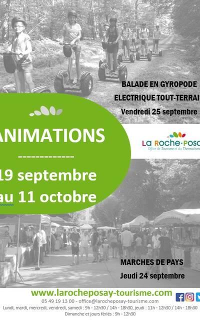 Programme animation La Roche-Posay