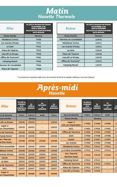 Guide horaires navette La Roche-Posay