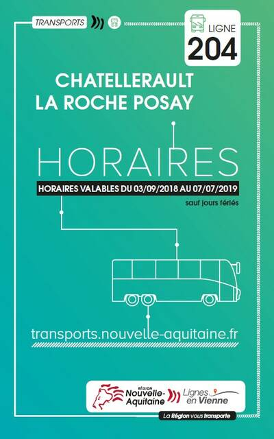 Horaires car : Châtellerault - La Roche-Posay