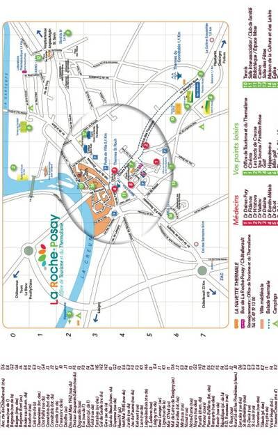 Plan de ville La Roche-Posay