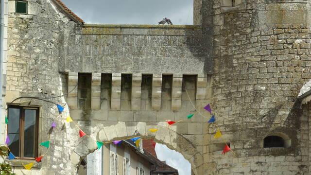 Medieval town gateway La Roche-Posay