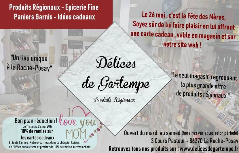 Réduction carte cadeau Délices de Gartempe La Roche-Posay