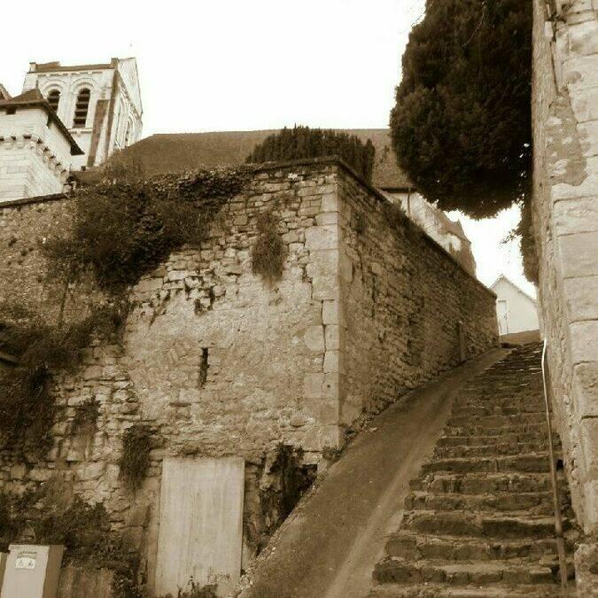 Escalier Cité médiévale La Roche-Posay ©BOUSSUGE Dominique