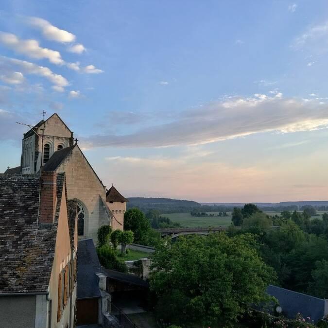 Vue cité médiévale La Roche-Posay ©IRIK Michel