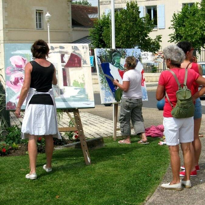 Art show in the town of La Roche-Posay